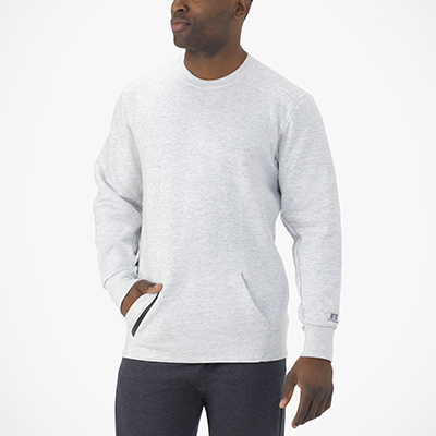 Men's Cotton Rich Fleece Crew Sweatshirt