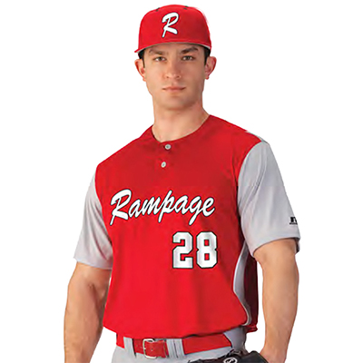 Russell Performance Two Button Placket Baseball Jersey