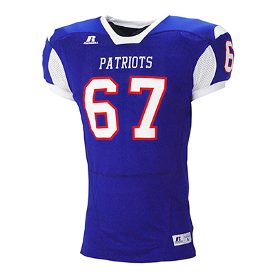 Russell Stock 93 Color Block Game Football Jersey
